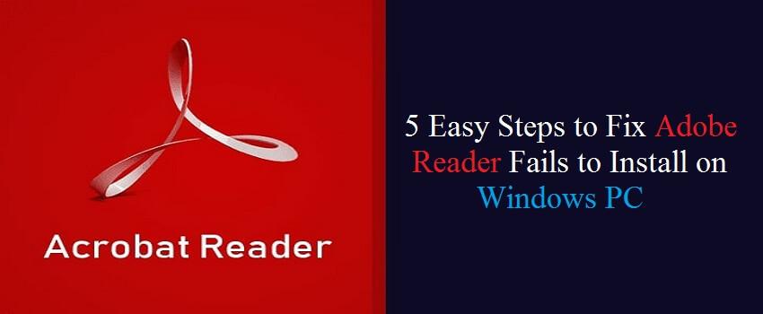 Adobe reader installation failed